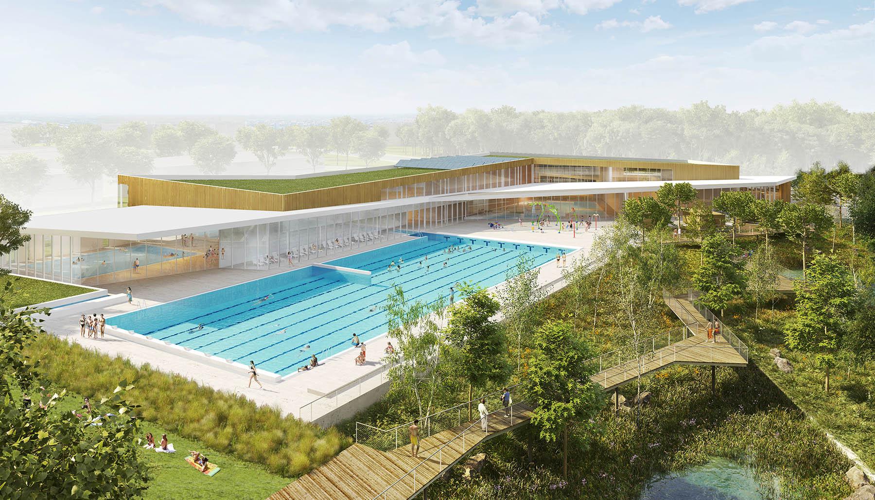 Centre aquatique champs sur marne tna architectes paris for Piscine tournesol sens